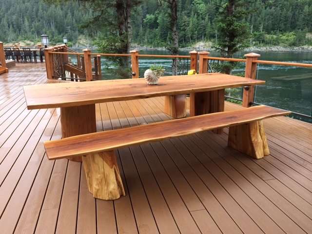 custom wood picnic table