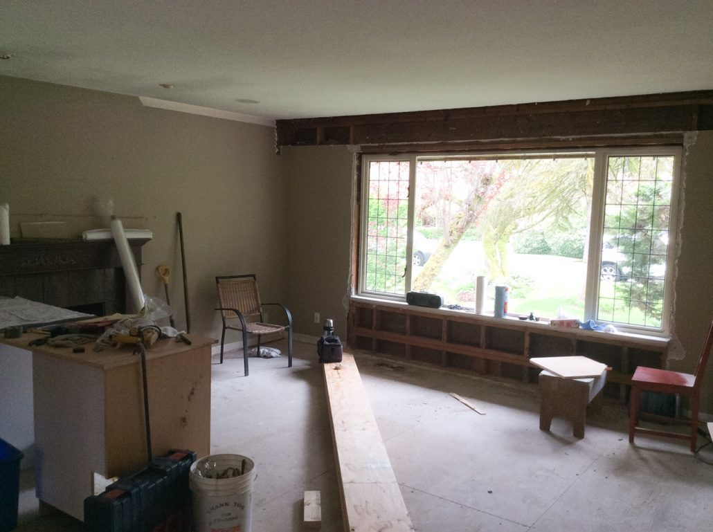 north vancouver renovation - living room before