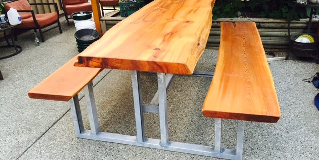 custom furniture - live edge wood tables